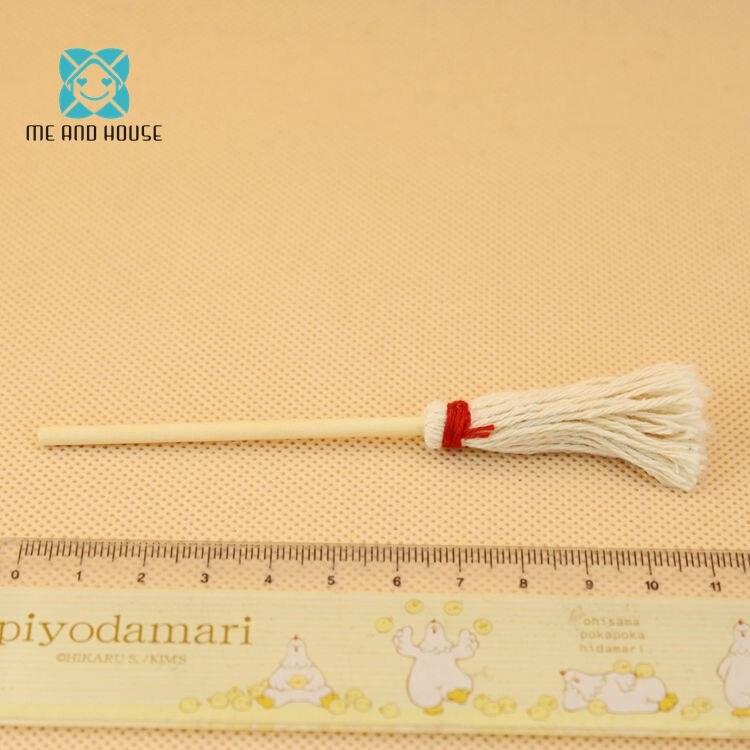 Dolls bathroom accessories Dollhouse Miniature Mop Swabber 1/12 scale
