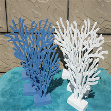 Mediterranean style wooden coral three-piece set Desktop decoration ornaments handmade wooden home crafts home decorations m style диван coral