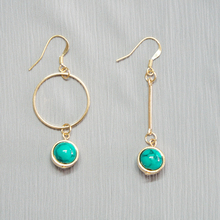 Act the role ofing is tasted The original sole hand made Natural stone Turquoise earrings geometry eardrop popular jewelry