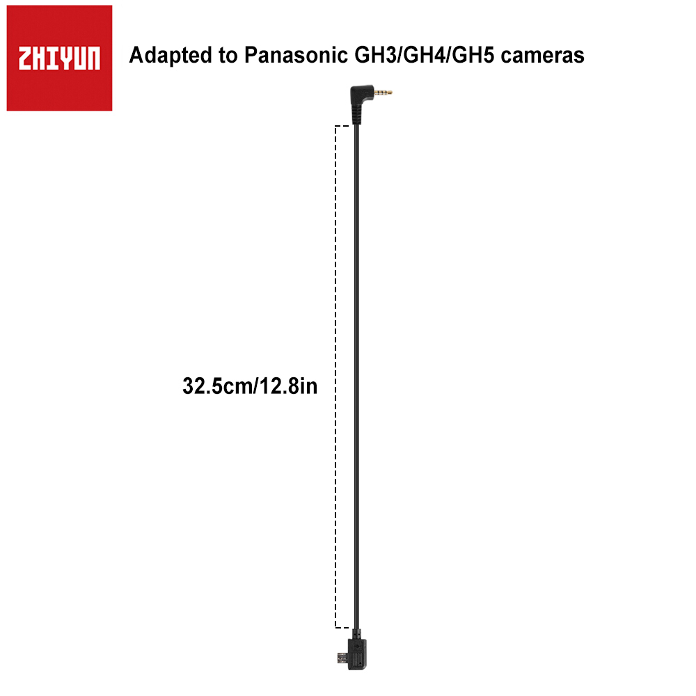 Zhiyun Crane 2/Crane V2/Crane Plus/Crane M 32.5cm/12.8in Connection Control Cables for Panasonic Cameras Free Shipping low price 2 t thickening folding car small crane engine hanger hanging manual hydraulic crane jack for sale
