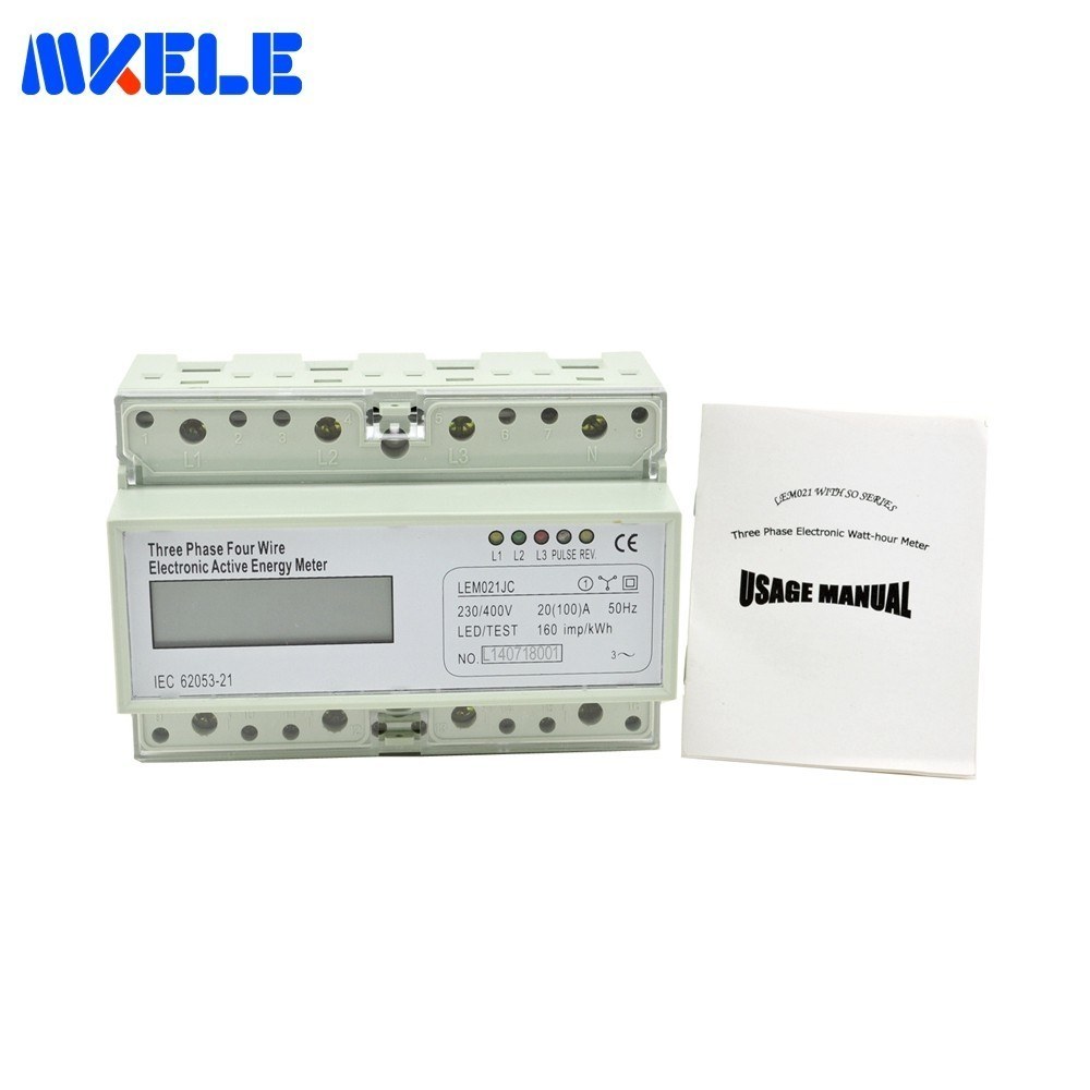 LCD MK-LEM021JC Three Phase Backlit Wattmeter Power Consumption Watt Energy Meter Din Rail KWH Watt Hour Din-rail Power Meter xinghang 400w pc computer power supply 12v 400w power supply psu peak 500w switching atx power gaming pc desktop 24pin