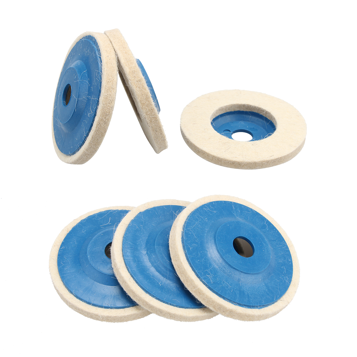 1/3PC 4 Inch Wool Polishing Wheel Buffing Pads 100mm Angle Grinder Wheel Felt Polishing Disc For Metal Marble Glass Ceramics