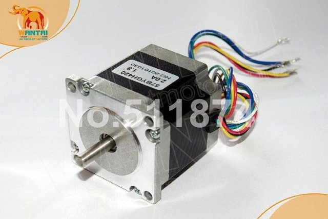 Great Motor! Wantai Nema23 Stepper Motor 57BYGH420 Single Shaft 127oz-in 56mm 2A CE ROHS ISO CNC Router Laser Printer Robot