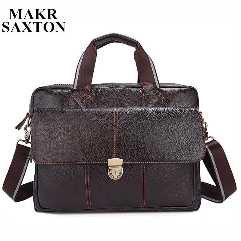 2018 New Genuine Leather Vintage Casual Men Handbags Cowhide Men Crossbody Bag Men's Travel Bags Laptop Briefcase Bag for Man genuine cow leather vintage casual mens women backpack shoulder crossbody bags men travel backpacks for man school laptop bag