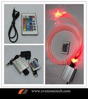RGB LED Lwl-sterndeckeninstallationssatz Kit Licht 300 stücke 0,75 (100 stücke-50 cm; 100 stücke-100 cm; 100 stücke-150 cm) + 5 Watt RGB Licht Motor + 24key Fern