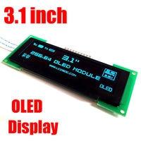 3.1 ''pollici OLED Schermo LCD 256X64 OLED modulo display SPI 3.3 V colore blu