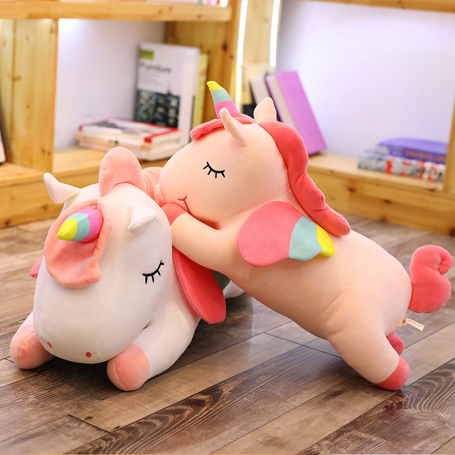 Lying Winged Unicorn Soft Stuffed Toy