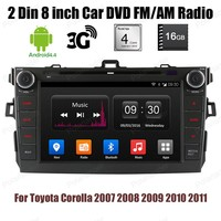 16G 4 Core Car DVD Player BT GPS Wifi Stereo Android 4 4 2 Din 8