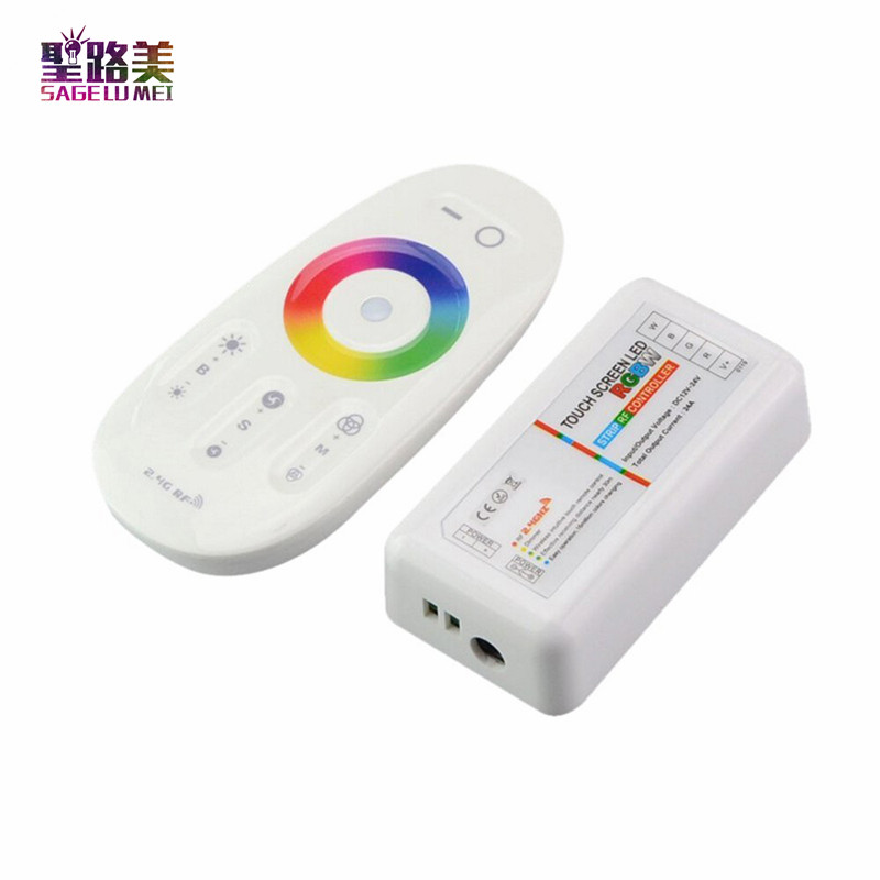 2016-DC12V-24V-RGBW-Led-Controller-2-4G-RF-Touch-1Screen-Remote-Control-6A-4-Channel