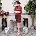 Historia Shanghai chino tradicional vestido corto vestido vestidos de estilo oriental de China cheongsam qipao vestido de Calidad Superior