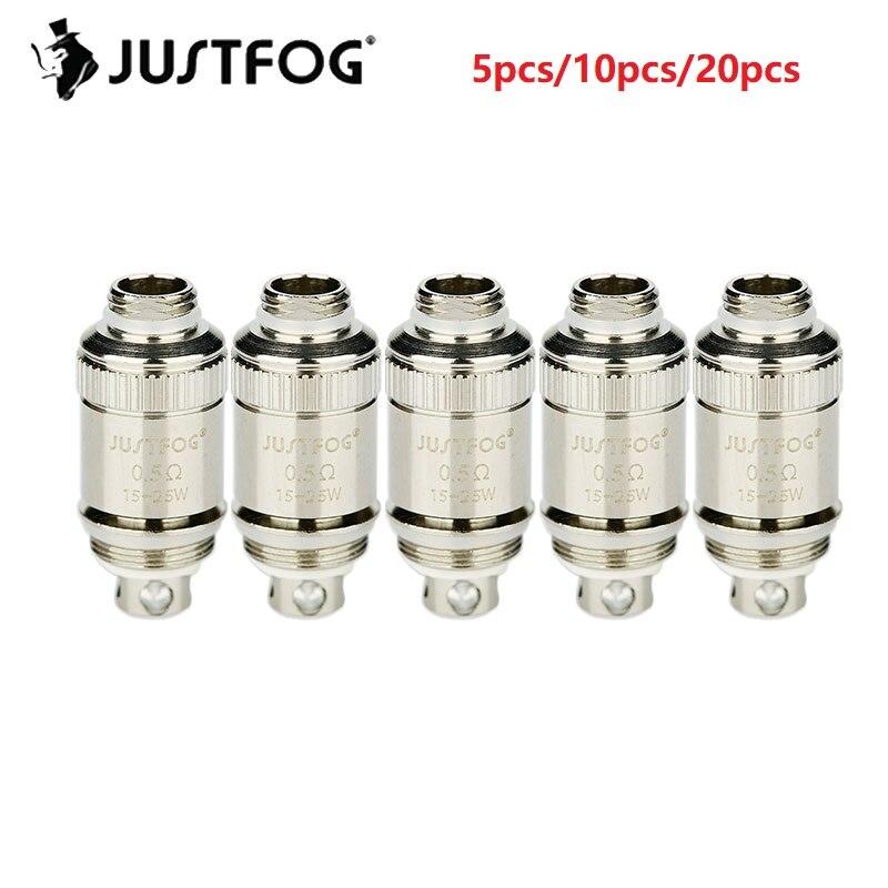 5/10/20pcs Original Justfog Fog 1 Coil Head 0.5ohm 0.8ohm Electronic Cigarette Core Replacement Coil Head Anti-spit Coil Justfog