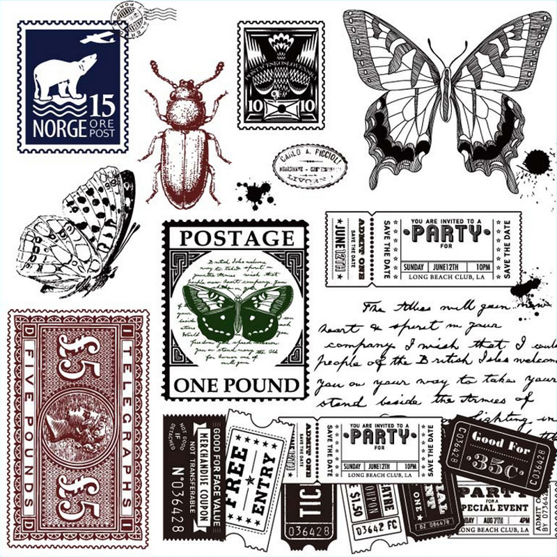 Vintage Plant Insect Transparent Silicone Clear Stamp For Scrapbooking Album DIY Craft Decoration Rubber Stamp Stationery