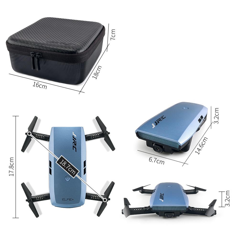 JJRC H47 RC Drone with Camera 720P FPV HD Elfie Plus G-Sensor Control Beauty Mode Selfie Mini Drone RC Foldable Quadcopter