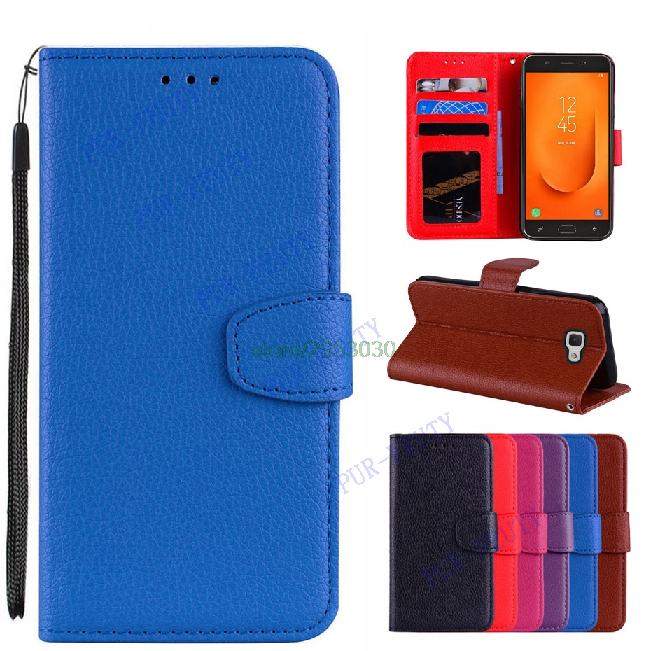 Flip Wallet Case For Samsung Galaxy J7 Prime2 Case For Samsung J7 Prime 2 2018 J7 Prime2 G611F G611 SM-G611F Leather Phone Cover image