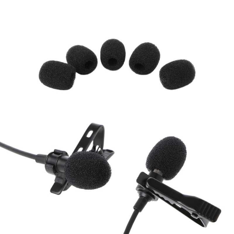 5X Bi Tròn Lavalier Microphone Bọt Kính Chắn Gió Bọt Biển Kính Chắn Gió 6 Mm Mở Thả Vận Chuyển Hỗ Trợ