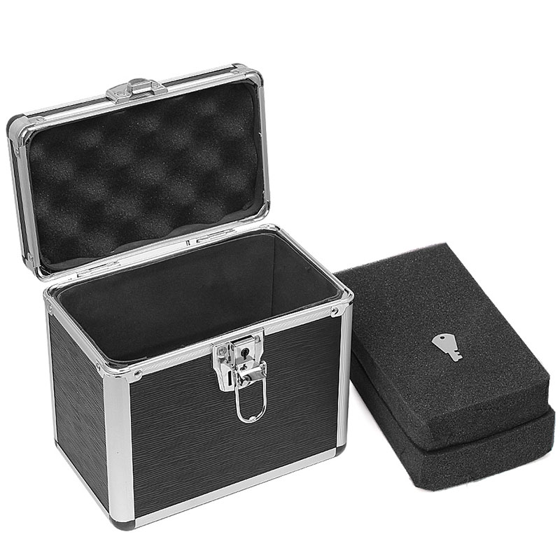 Aluminum Tool Box Portable Storage Case Sponge Lining Handheld Multi-function ToolBox Impact Resistant Safety Case 21x13x19cm