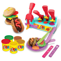 Slime plasticine mud burger making machine 3D clay mold tool set children's educational DIY toy
