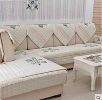Embroidered Sofa Cushion Four Seasons Non Slip Sofa Towel Sets Four Seasons Fabric Cotton Fabric Cushion