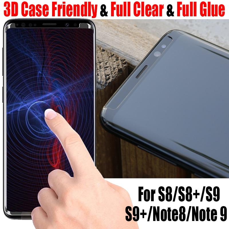 Sinzean 100pcs 3D Curved full clear Case friendly For Samsung Galaxy S9 S9 Plus S8 Plus