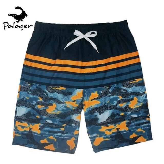 Palager камуфляжные шорты мужчины полосатый пляж шорты бермуды мужчины лето быстрое высыхание сетки купальники винтаж печати шорты мужчины
