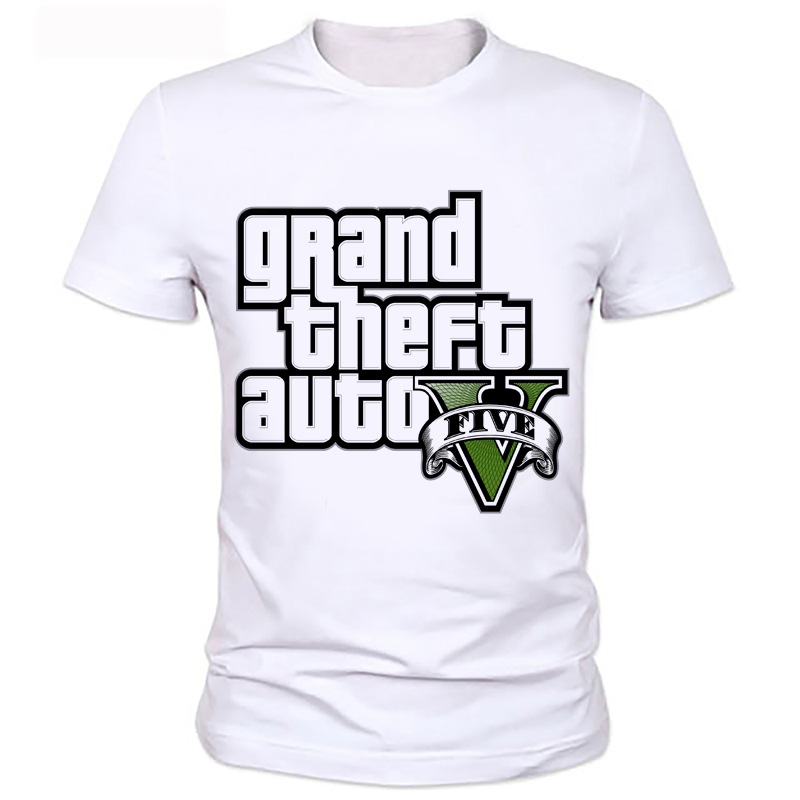 Fashion Grand Theft Auto Men T Shirts O Neck Short Sleeve Cartoon Male t-shirt Tops Casual T Shirt boy's printed t-shirt 86#