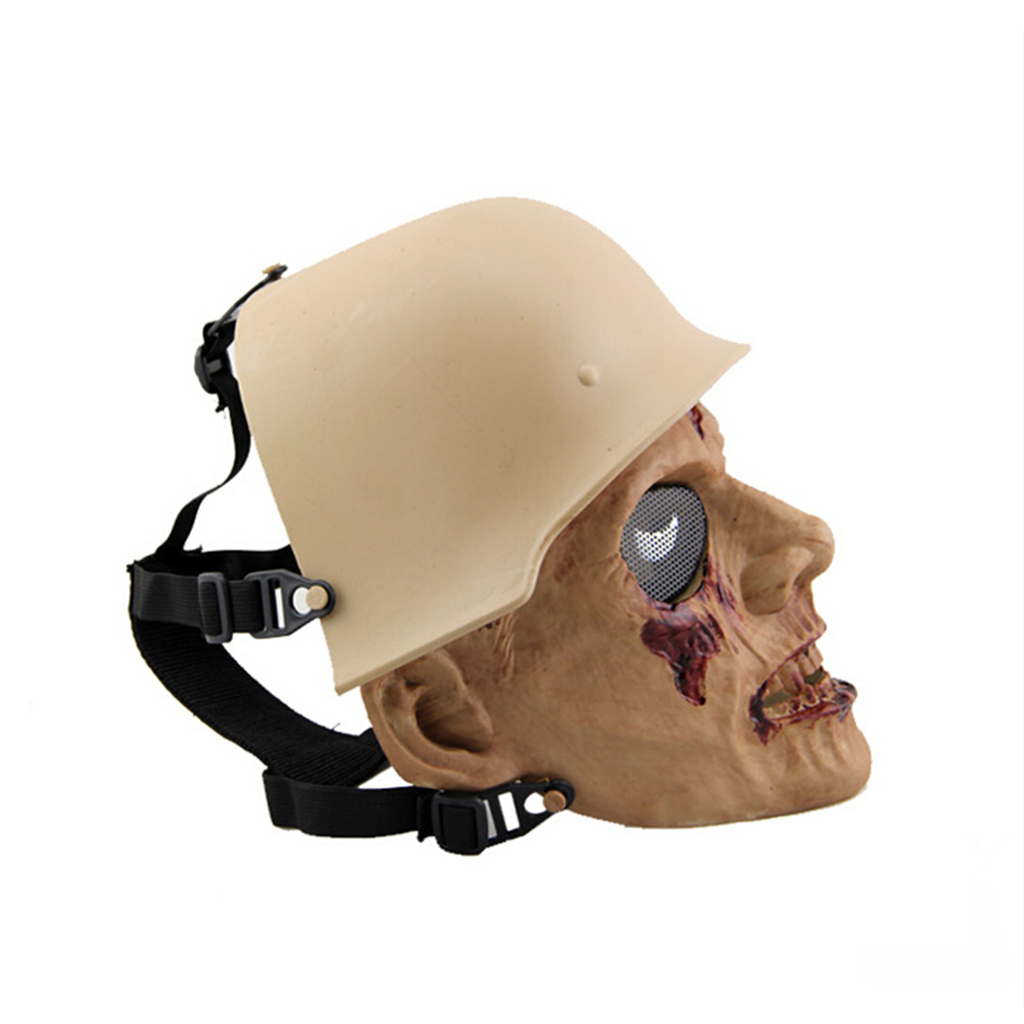 Image 3 - Outdoor Hunting Cs Wargame Mask Halloween mask Ghost Full Face Skull Bone Airsoft Paintball Mask-in Paintball Accessories from Sports & Entertainment