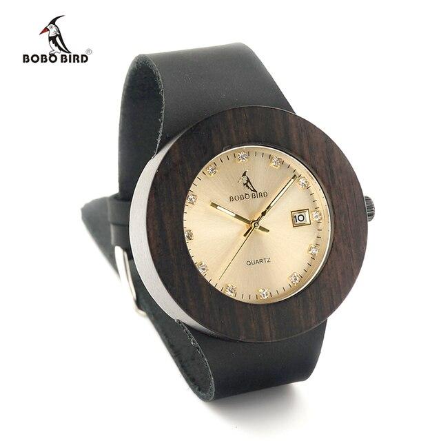 Zegarek drewniany Bobobird Diamond Lux