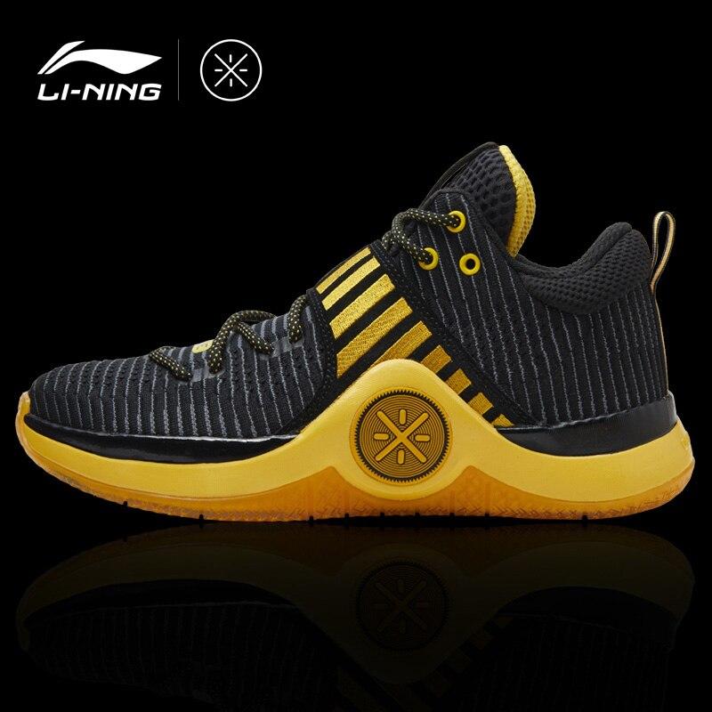 Li-Ning Hommes WOW 6 L'AVERTISSEMENT de Wade chaussures de basket baskets portables Confort Doublure Fitness chaussures de sport ABAM089 XYL164