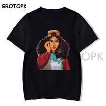 Black Girl Magic T Shirt Harajuku Summer Cotton Black T-shirt Women Clothes 2019 Aesthetic Streetwea