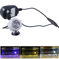 LED Aquarium Submersible Lamp Light With Suction Cup For Water Garden Pond Pool Fish Tank Euro