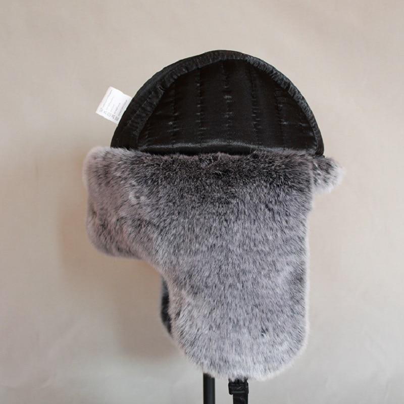 2fb6cffb427 Bomber Hat Men Winter Wool Snow Hats Pom Pom Trapper Aviator Cap Fur  Earflaps Outdoor Trapper Russian Snow Windproof MZ018-in Bomber Hats from  Apparel ...