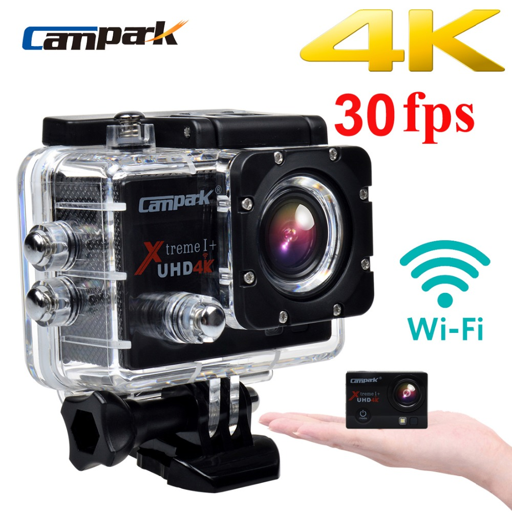 "Campark ACT74 4K 30fps 2.0"" LCD Wifi Sport Action Camera Diving 30m Waterproof Helmet Cam Sport DV Camera"