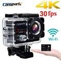 """Campark act74 4 k 30fps 2.0 """"lcd wifi esporte action camera diving 30 m impermeável capacete esporte cam dv câmera"""