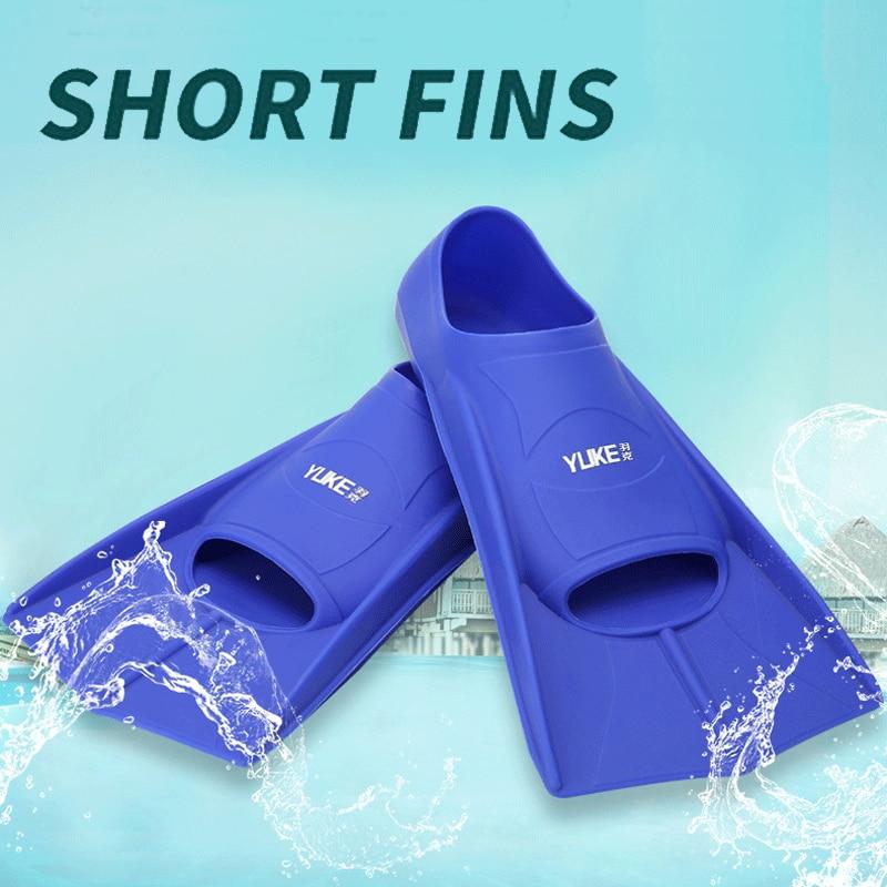 Silicone Professional Scuba Diving Fins Short Men Women Snorkel Swimming Fins Kids Flippers Equipment Set China Factory 2019
