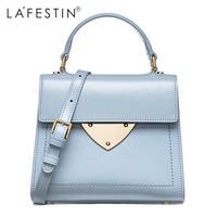 LAFESTIN Designer Lady Handbags Women Genuine Leather Bags Shoulder Luxury String Totes Multifunction Brands Bag Bolsa