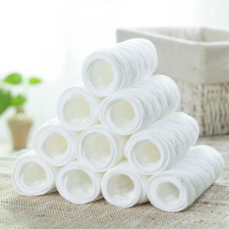 6 Pcs Baby Nappies Reusable Baby Infant Newborn Cloth Eco friendly Diaper Nappy Liners Insert 3
