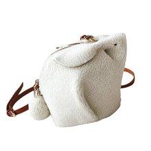 Mini Soft Lovely Cute Alpaca/Rabbit Design Plush Trendy Women Bag Messenger Bag Casual Ladies Single Shoulder Bag