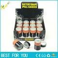 1 PC desviación seguro Stash de caja de la píldora de la batería secreto escondido dinero monedas contenedor caso regalo para hombres, caja de almacenamiento
