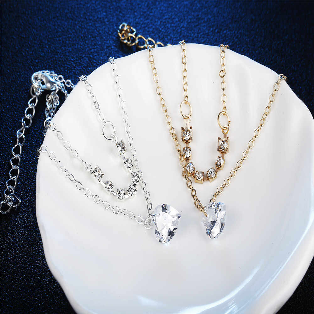 Stylish Wild Bracelet 1PC Crystal Rhinestones Women Metal Anklet Bracelet Chain Gold Silver Lady High Quality Luxury Gifts L0330