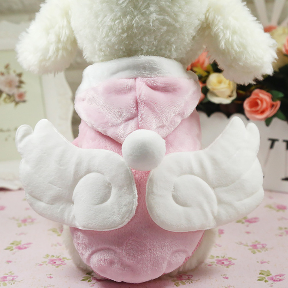 Small Dogs Costume Clothes For Little Dogs Overalls Dog Cat Clothing Kawaii Angel Wings Warm Winter Coat