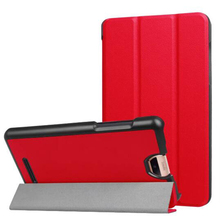 ocube Luxurious Extremely Slim Folio Stand Tri-fold Custer PU Flip Leather-based Case Cowl For Acer Iconia Discuss S A1-734 7 inch Pill PC