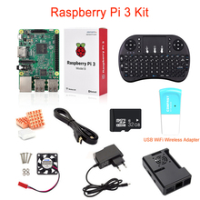 Cheap price Raspberry Pi 3+32G SD Card+USB WiFi Wireles Adapter+Wireless Remote Keyboard+HDMI Cable+Case+Heat Sink+Power Adapter+Mini Fan