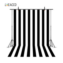 Laeacco White And Black Stripes Portrait Baby Photography Backgrounds Customized Sizes Photographic Backdrops For Photo Studio