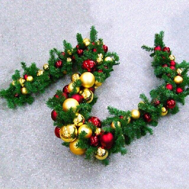 Buon Natale Originale.270 Cm Buon Natale Canna Rattan Corona Di Natale Originale Verde