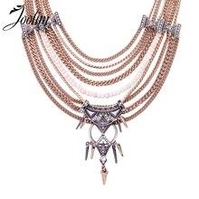 JOOLIM Antique Multi-layered Adjustable Statement Knot Collar Necklace Fashion Jewelry Wholesale