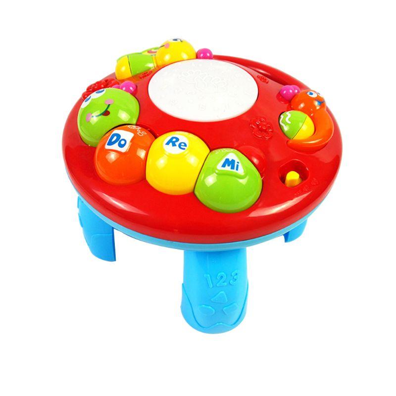 Lovely Kids Baby Geluid Bureau Muziek Cartoon Elektrische Studie Tafel Educatief Intelligentie Developmental Toy