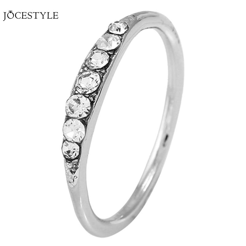 Classic Rhinestones Rings Women Ladies Elegant Wedding Finger Rings Plating Silver Rings Decor Jewelry Decor Gifts