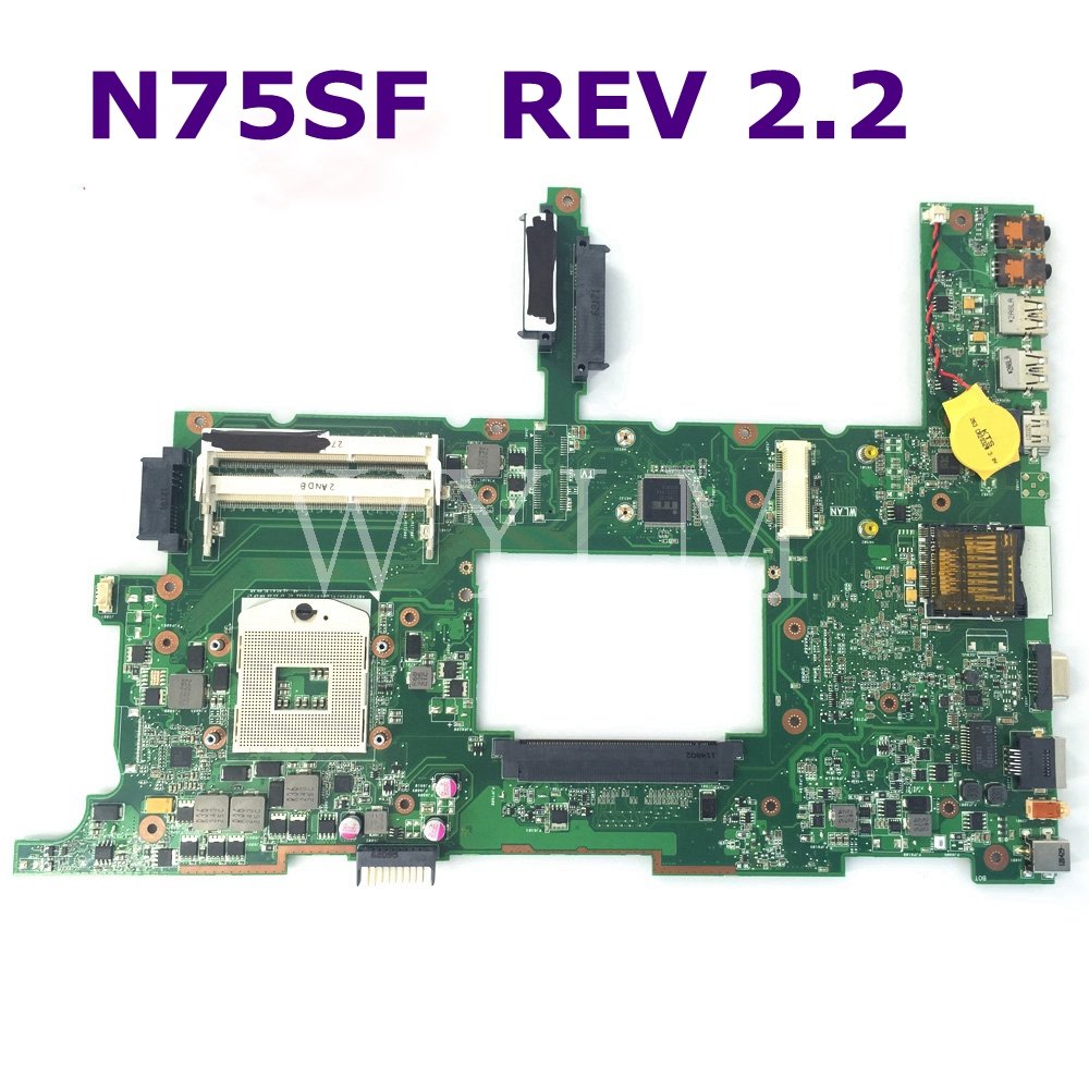 N75SF Motherboard REV 2.2 For Asus N75SF N75SL N75S N75 Laptop Mainboard HM65 DDR3 USB 3.0 100% Tested Free Shipping