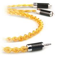 Xiao Fan D20g ручной работы аудио кабель RCA кабель усилитель мощности соединительная линия 3,5 мм до 2 RCA для телефона домашний кинотеатр DVD RCA линия