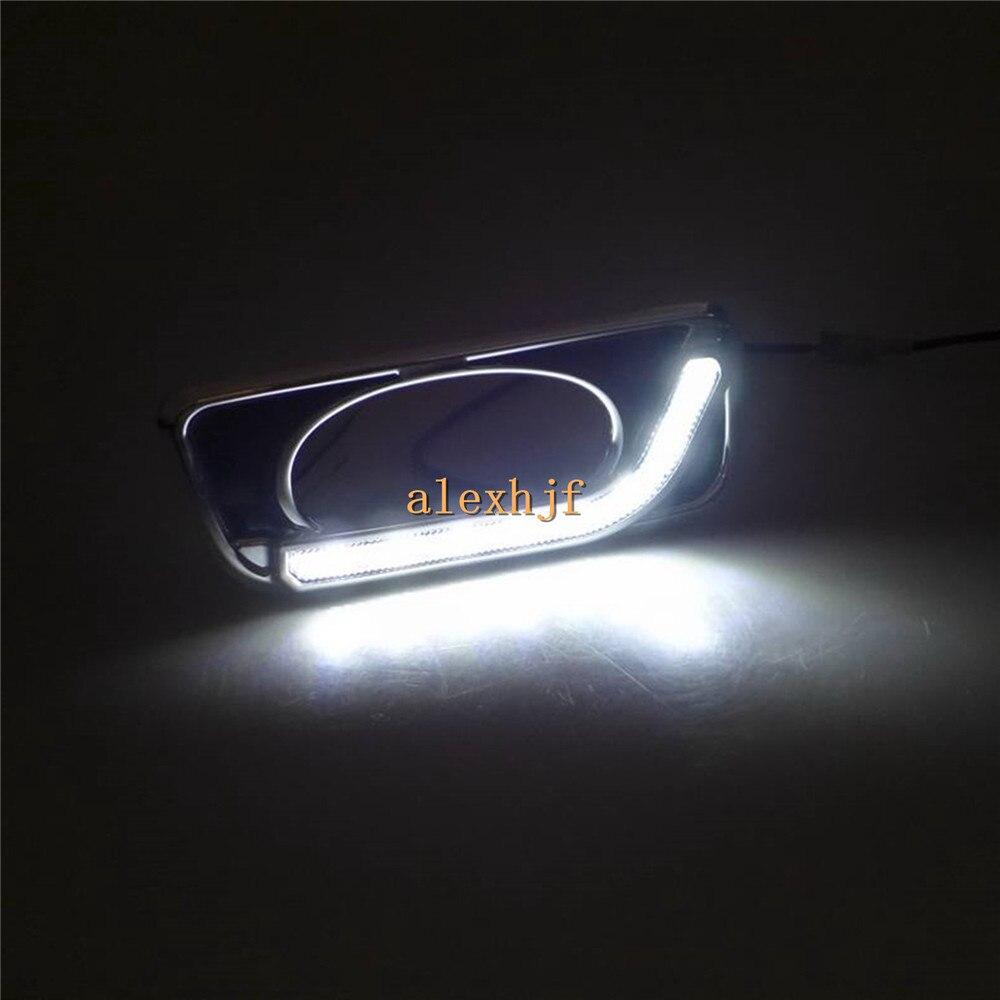July King светодиодный дневные ходовые огни DRL с противотуманной лампой чехол для Honda City 2011~ 14, L Тип светодиодный противотуманный фонарь, 1:1
